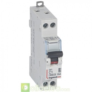 DX3 1P+NG C1 6000A/10KA 407692 Legrand Disjoncteurs PH+N