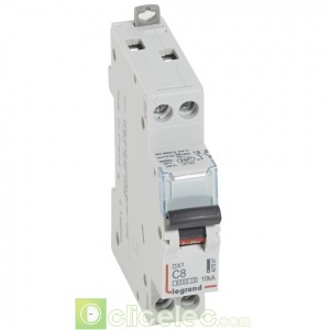 DX3 1P+NG C8 6000A/10KA 407697 Legrand Disjoncteurs PH+N