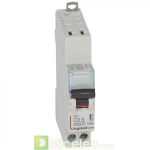 DX3 1P+NG C0,5 6000A/10KA AUTO 407705 Legrand Disjoncteurs PH+N