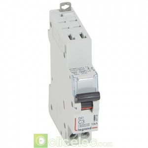 DX3 1P+NG C3 6000A/10KA AUTO 407708 Legrand Disjoncteurs PH+N