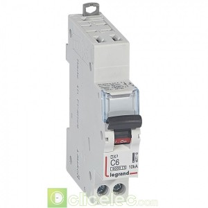 DX3 1P+NG C6 6000A/10KA AUTO 407710 Legrand Disjoncteurs PH+N