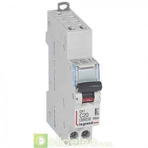 DX3 1P+NG C20 6000A/10KA AUTO 407715 Legrand Disjoncteurs PH+N