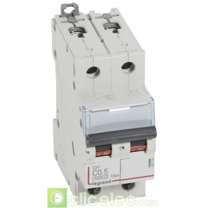 DX3 2P C0.5 6000A/10KA 407774 Legrand Disjoncteurs PH+N
