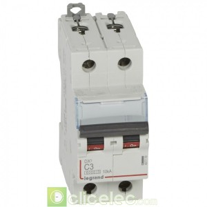 DX3 2P C3 6000A/10KA 407778 Legrand Disjoncteurs PH+N