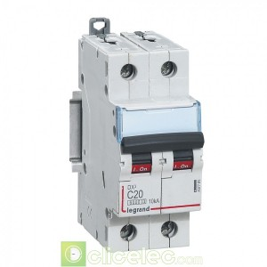 DX3 2P C20 6000A/10KA 407785 Legrand Disjoncteurs PH+N