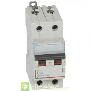 DX3 2P C25 6000A/10KA 407786 Legrand Disjoncteurs PH+N