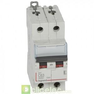 DX3 2P C63 6000A/10KA 407790 Legrand Disjoncteurs PH+N