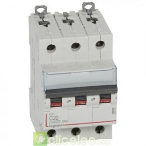 DX3 3P C20 6000A/10KA 407830 Legrand Disjoncteurs PH+N