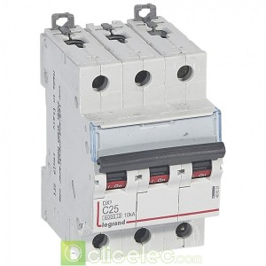 DX3 3P C25 6000A/10KA 407831 Legrand Disjoncteurs PH+N