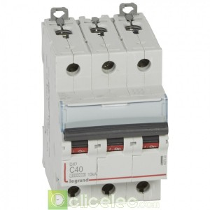 DX3 3P C40 6000A/10KA 407833 Legrand Disjoncteurs PH+N