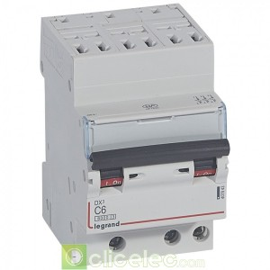 DX3 3P C6 6000A/10KA AUTO 407843 Legrand Disjoncteurs PH+N