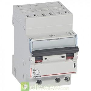 DX3 3P C10 6000A/10KA AUTO 407844 Legrand Disjoncteurs PH+N