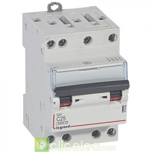 DX3 4P C25 6000A/10KA 3M 407909 Legrand Disjoncteurs PH+N