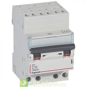 DX3 4P C10 6000A/10KA AUTO 407913 Legrand Disjoncteurs PH+N