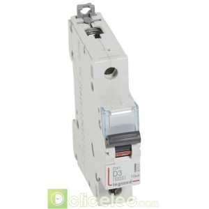 DX3 1P D3 6000A/10KA 407951 Legrand Disjoncteurs PH+N