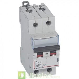 DX3 2P D0.5 6000A/10KA 408007 Legrand Disjoncteurs PH+N