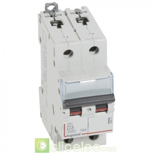 DX3 2P D3 6000A/10KA 408010 Legrand Disjoncteurs PH+N