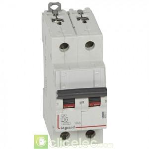DX3 2P D6 6000A/10KA 408012 Legrand Disjoncteurs PH+N