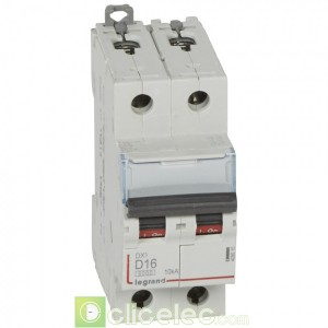 DX3 2P D16 6000A/10KA 408015 Legrand Disjoncteurs PH+N