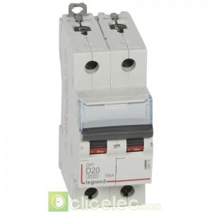 DX3 2P D20 6000A/10KA 408016 Legrand Disjoncteurs PH+N