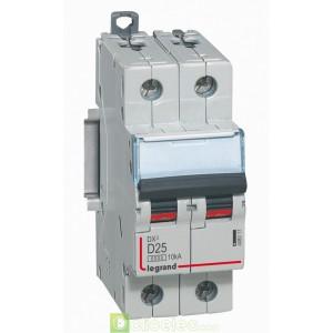 DX3 2P D25 6000A/10KA 408017 Legrand Disjoncteurs PH+N