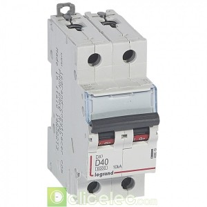 DX3 2P D40 6000A/10KA 408019 Legrand Disjoncteurs PH+N