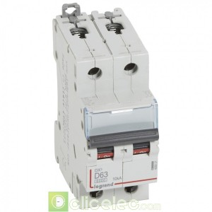 DX3 2P D63 6000A/10KA 408021 Legrand Disjoncteurs PH+N