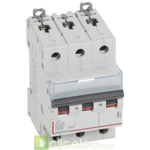 DX3 3P D25 6000A/10KA 408061 Legrand Disjoncteurs PH+N