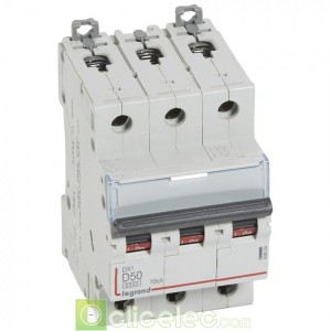 DX3 3P D50 6000A/10KA 408064 Legrand Disjoncteurs PH+N