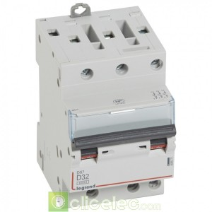 DX3 3P D32 6000A/10KA 3M 408071 Legrand Disjoncteurs PH+N