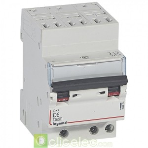 DX3 3P D6 6000A/10KA AUTO 408073 Legrand Disjoncteurs PH+N