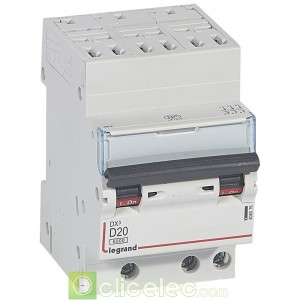 DX3 3P D20 6000A/10KA AUTO 408076 Legrand Disjoncteurs PH+N