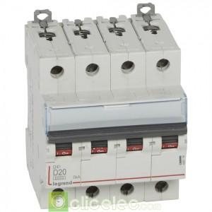 DX3 4P D20 6000A/10KA 408118 Legrand Disjoncteurs PH+N