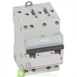 DX3 4P D6 6000A/10KA 3M 408124 Legrand Disjoncteurs PH+N