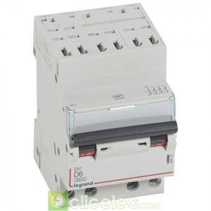 DX3 4P D6 6000A/10KA AUTO 408131 Legrand Disjoncteurs PH+N