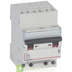 DX3 4P D16 6000A/10KA AUTO 408133 Legrand Disjoncteurs PH+N