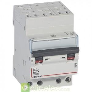 DX3 4P D25 6000A/10KA AUTO 408135 Legrand Disjoncteurs PH+N