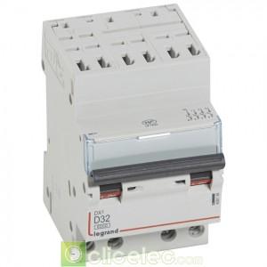 DX3 4P D32 6000A/10KA AUTO 408136 Legrand Disjoncteurs PH+N
