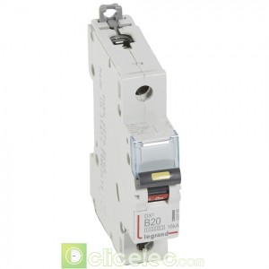 DX3 1P B20 10000A/16KA 408888 Legrand Disjoncteurs PH+N
