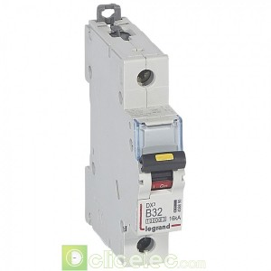 DX3 1P B32 10000A/16KA 408890 Legrand Disjoncteurs PH+N