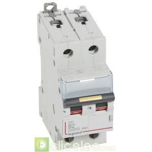 DX3 2P B2 10000A/16KA 408953 Legrand Disjoncteurs PH+N