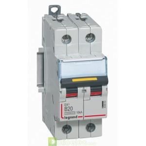 DX3 2P B20 10000A/16KA 408960 Legrand Disjoncteurs PH+N