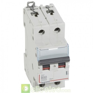 DX3 2P B50 10000A/16KA 408964 Legrand Disjoncteurs PH+N