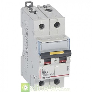 DX3 2P B63 10000A/16KA 408965 Legrand Disjoncteurs PH+N
