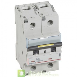 DX3 2P B80 10000A/16KA 408966 Legrand Disjoncteurs PH+N