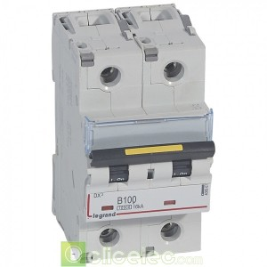 DX3 2P B100 10000A/16KA 408967 Legrand Disjoncteurs PH+N