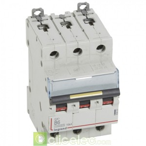 DX3 3P B6 10000A/16KA 409005 Legrand Disjoncteurs PH+N