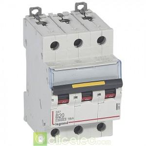DX3 3P B20 10000A/16KA 409009 Legrand Disjoncteurs PH+N