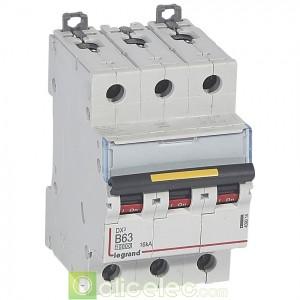 DX3 3P B63 10000A/16KA 409014 Legrand Disjoncteurs PH+N