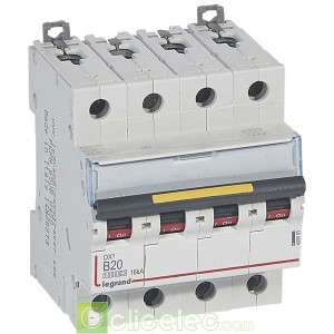 DX3 4P B20 10000A/16KA 409083 Legrand Disjoncteurs PH+N
